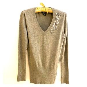 BCBG Max Azria / Grey Embellished Sweater / Small